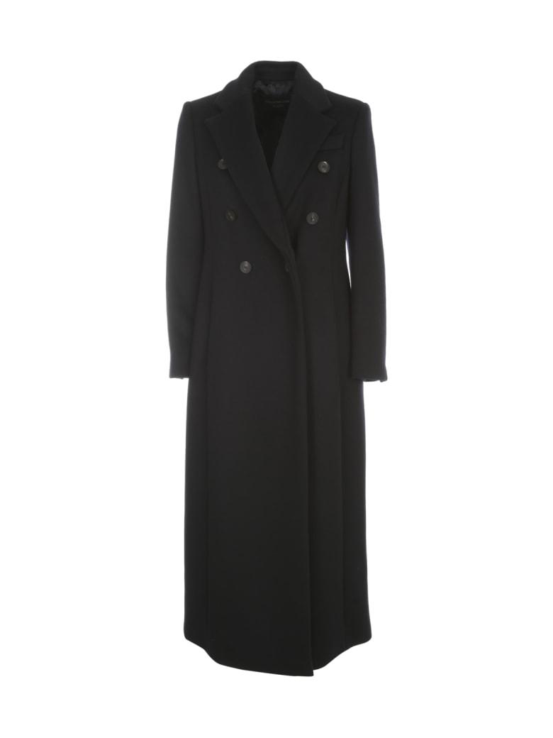 Emporio Armani Long Double Breasted Coat - Blu