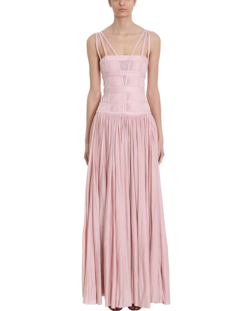 Giovanni Bedin Pleated Maxi Dress - rose-pink
