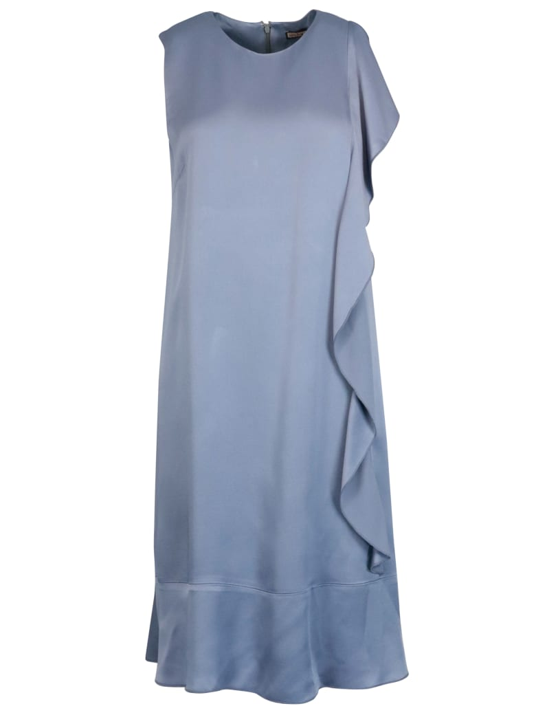 Malìparmi Shiny Cady Dress - INDIGO