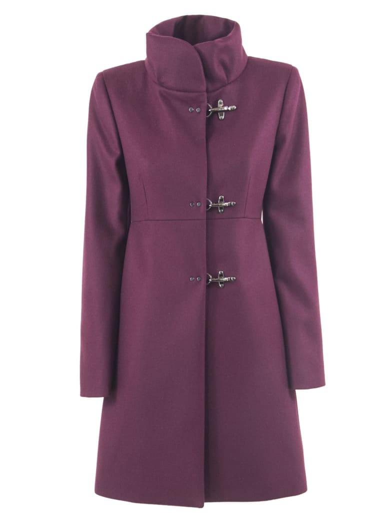 Fay Bordeaux Virgin Wool-cashmere Jacket - Bordo