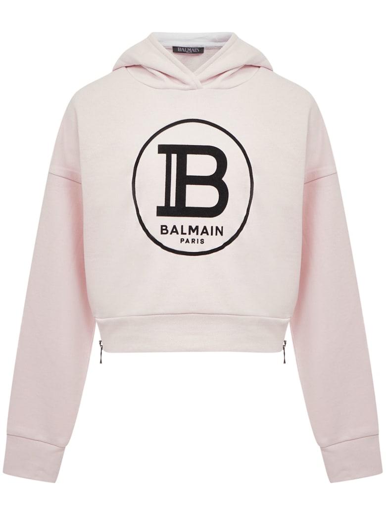 Balmain Paris Kids Sweatshirt - Pink
