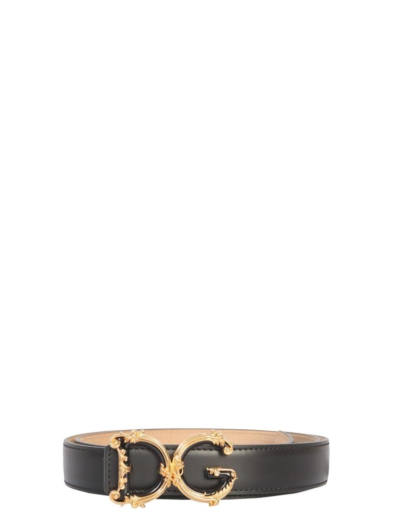 Dolce & Gabbana Leather Belt - NERO