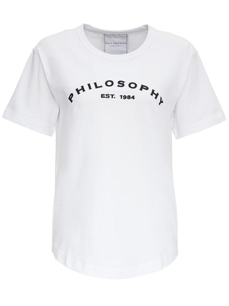 Philosophy di Lorenzo Serafini Cotton T-shirt With Logo - White
