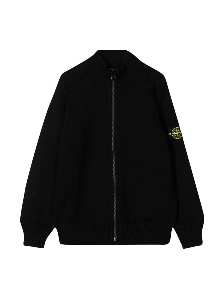 Stone Island Junior Black Jacket - Nero