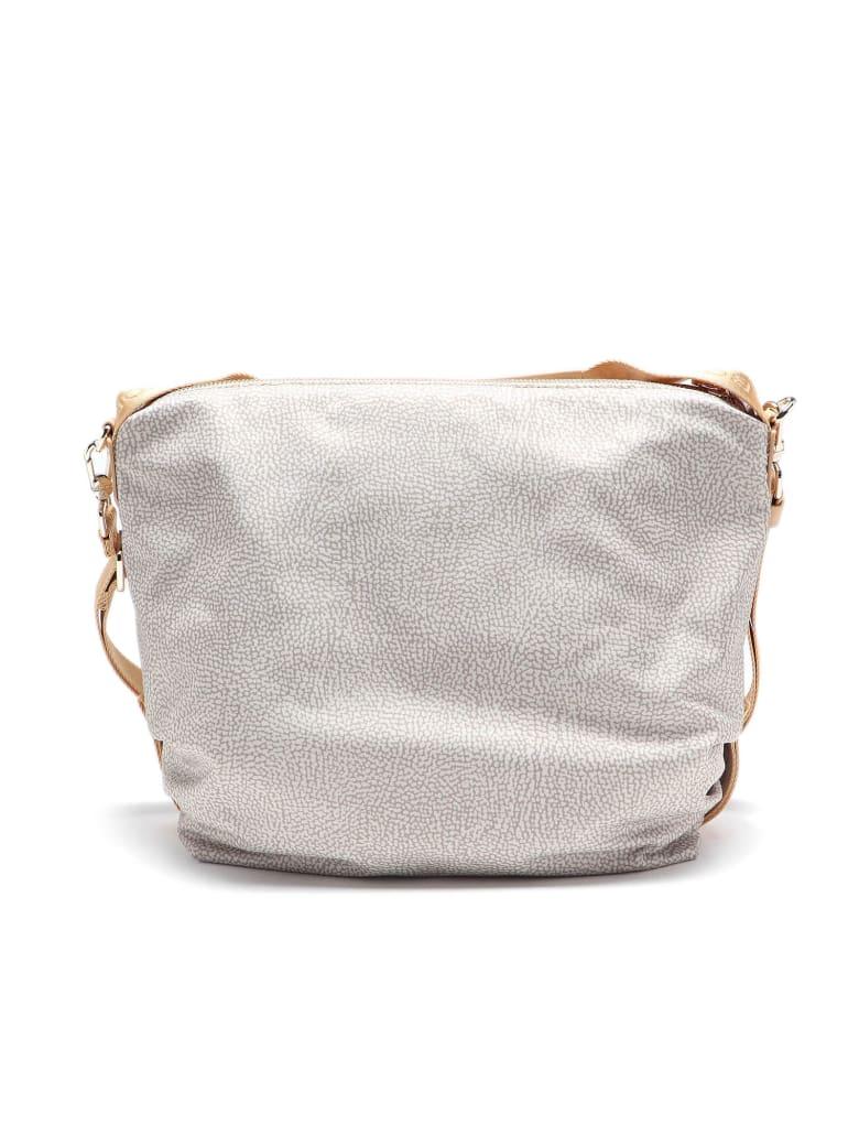 Borbonese Hobo Bag Medium - Beige