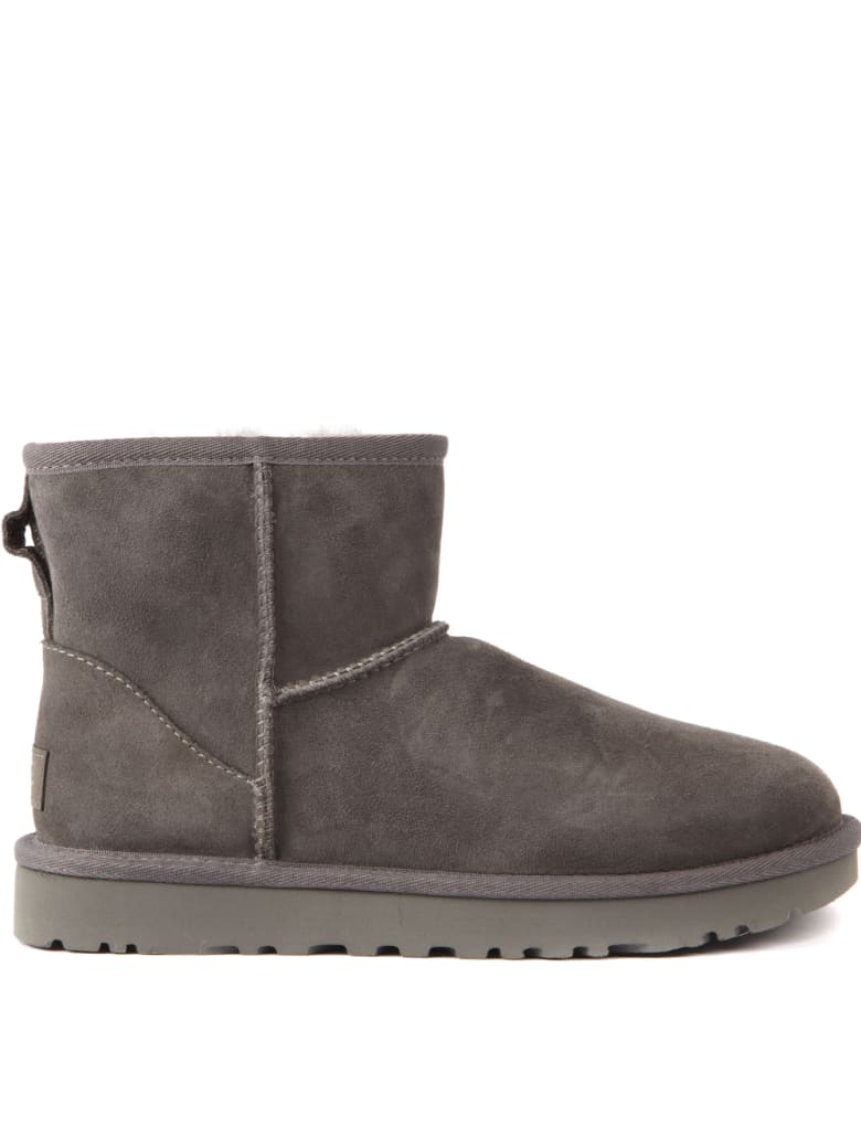 UGG Mini Classic Grey Suede Ankle Boots - Grey