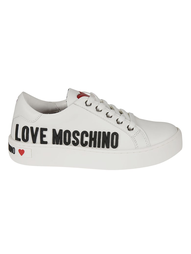 Love Moschino Side Logo Sneakers - White