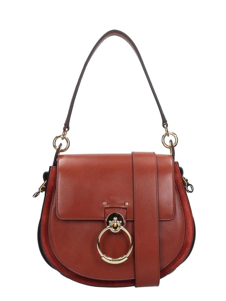 0707ccd8552c Chloé Tess Big Shoulder Bag In Brown Leather