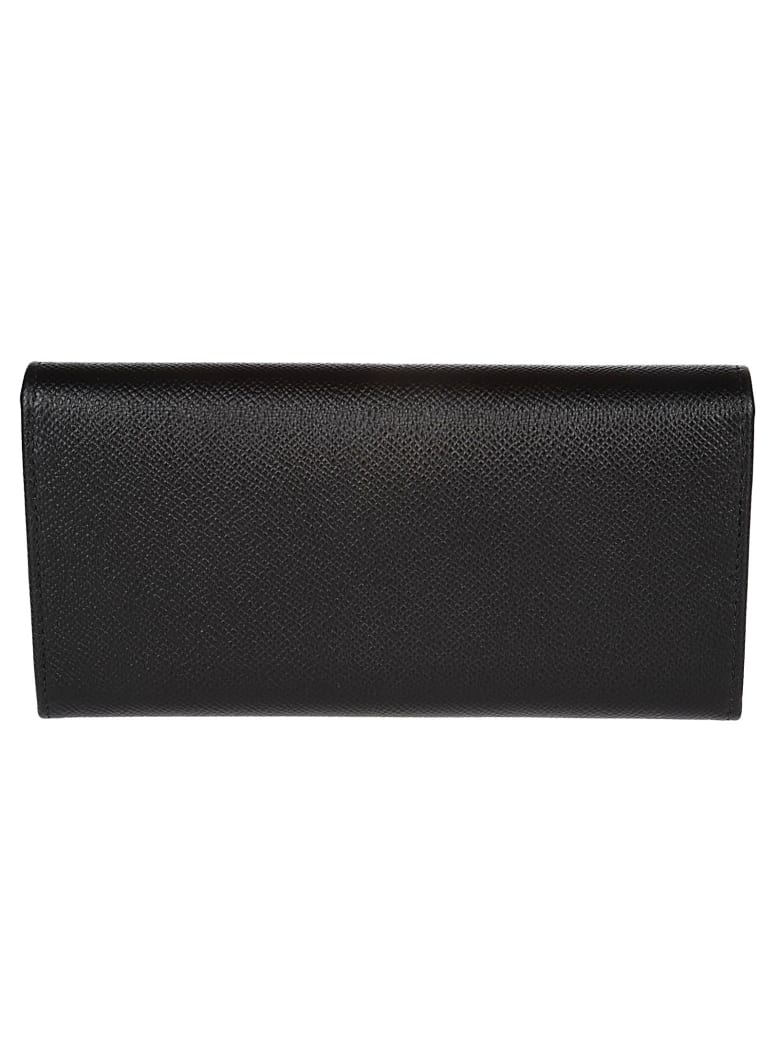 Salvatore Ferragamo Black Leather Wallet - Black