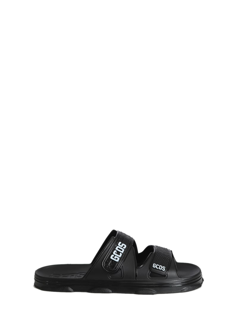 GCDS Rubber Sandals - Nero