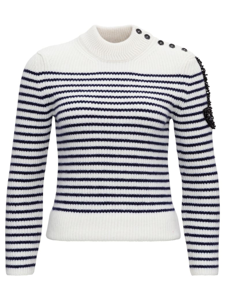 Patou Sweater With Side Logo Detail - C Cream