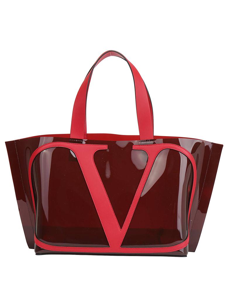 Valentino Garavani Small Tote Bag - Rubin/rouge pur