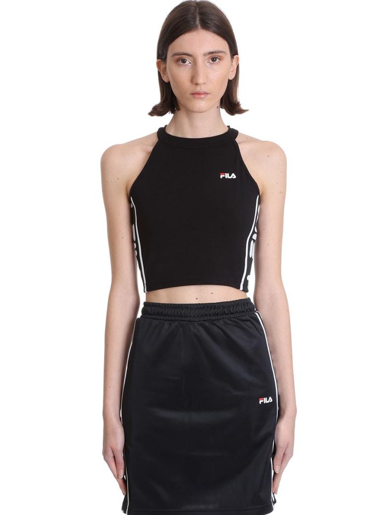 Fila Tama Topwear In Black Polyester - black
