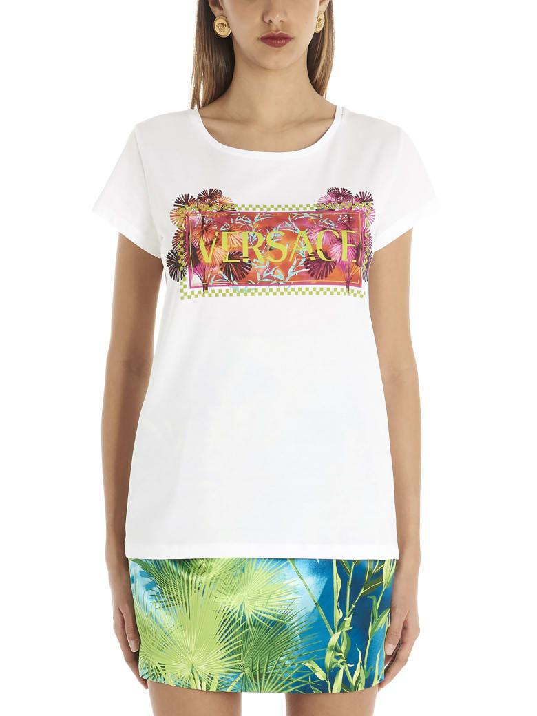 Versace 'jungle' T-shirt - White