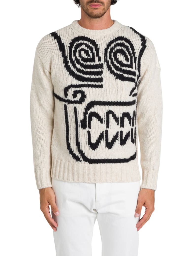 Moncler Genius Tricot Sweater By 1952 + Valextra - Panna