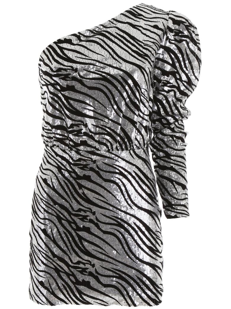 In The Mood For Love Dixie Mini Dress - SILVER BLACK (Silver)