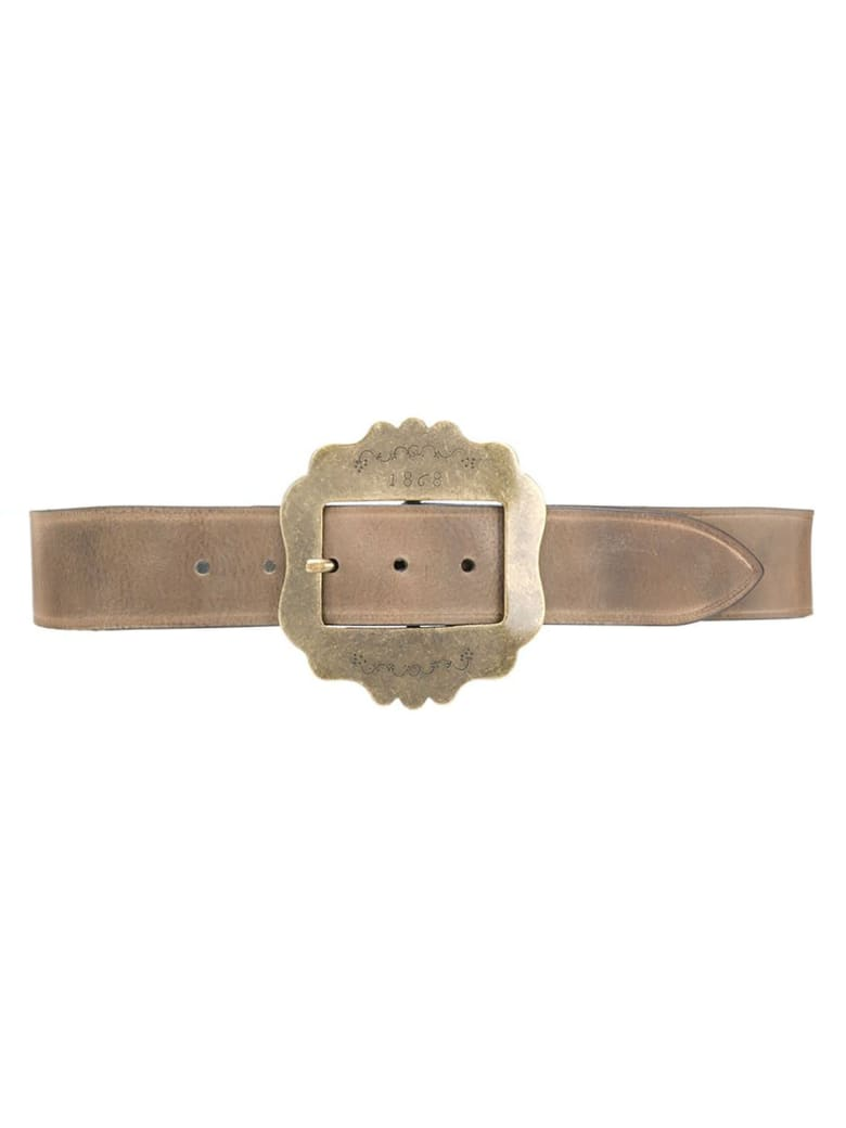 Isabel Marant Beige Cow Leather Belt - Marrone