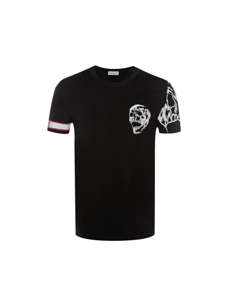 Alexander McQueen Tshirt Biker Graphics Skull - Black Mix