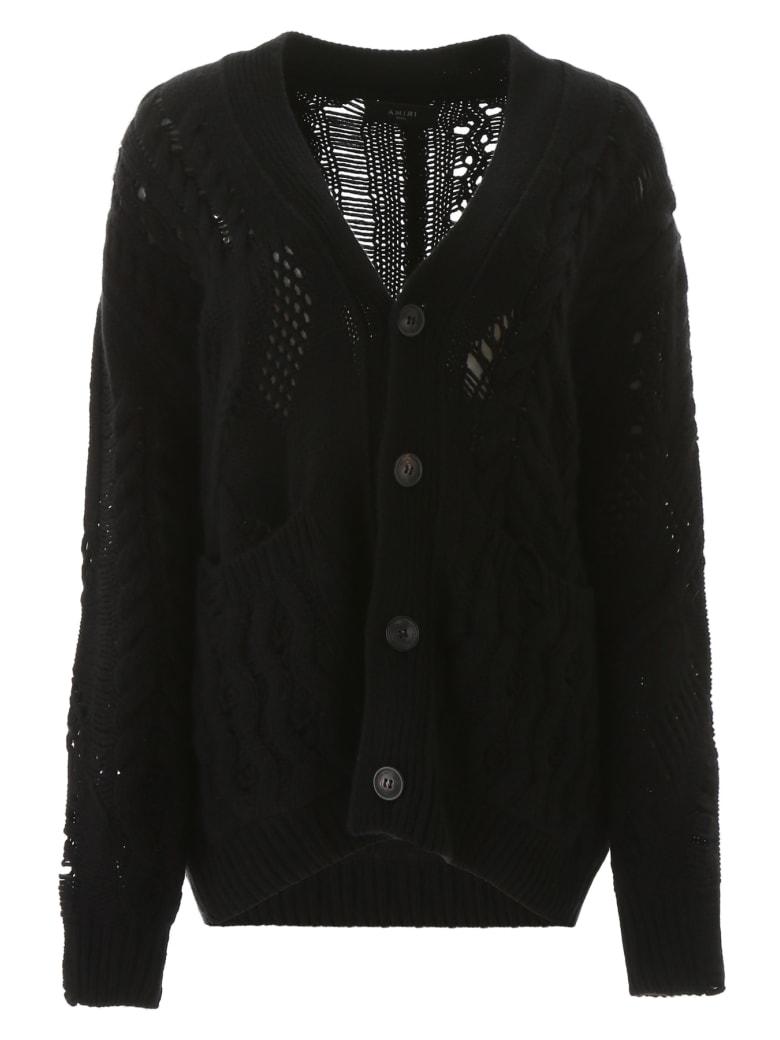 AMIRI Oversized Cardigan - BLACK (Black)
