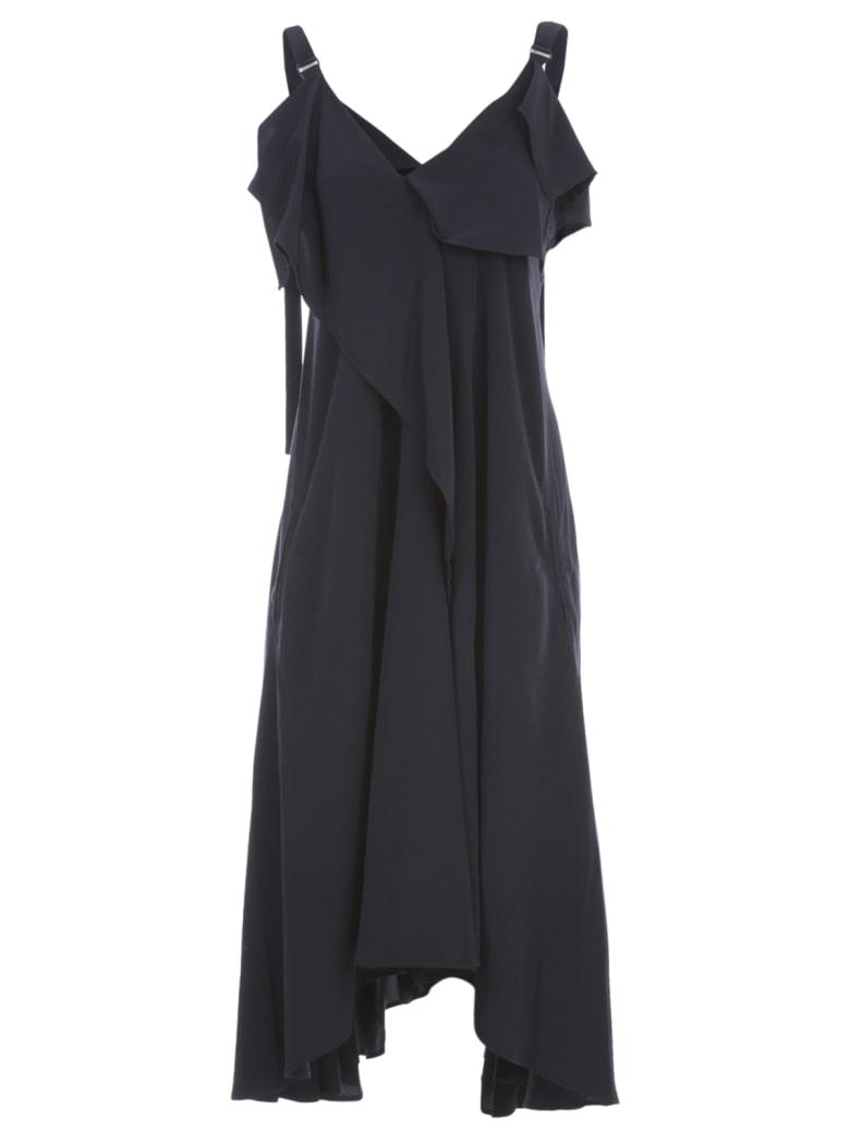 Y's U A Line Flare Dress W/strap - Navy