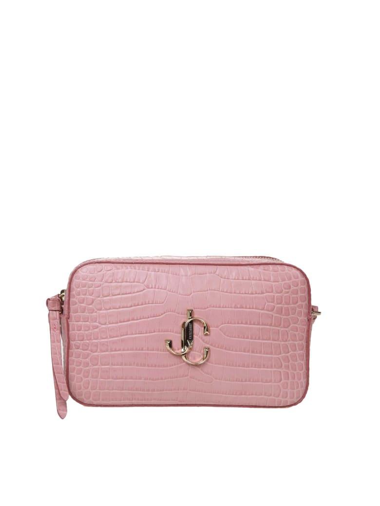 Jimmy Choo Varenne Cross Body Bag In Calf Leather Color Pink - Blush