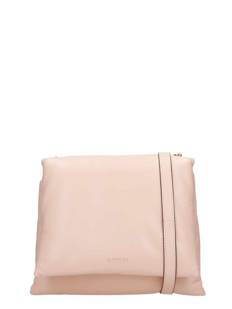 Lanvin Sugar  Shoulder Bag In Rose-pink Leather - rose-pink