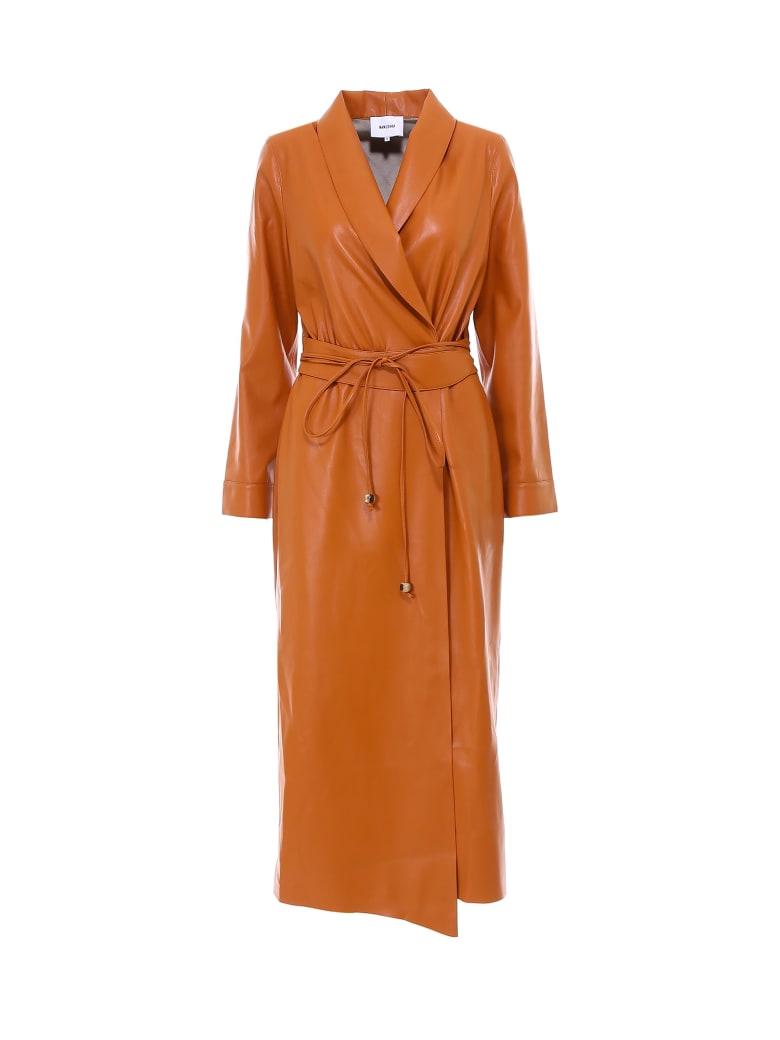Nanushka Emery Coat - Orange