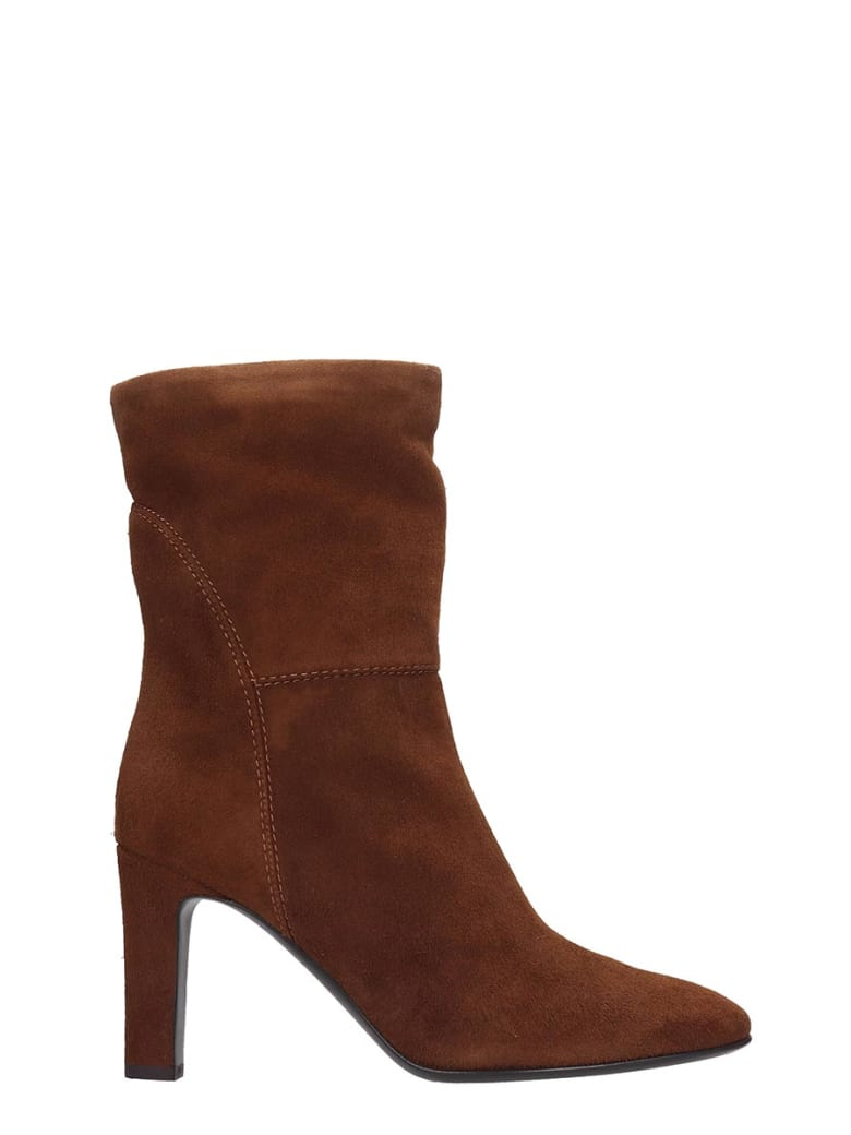 Giuseppe Zanotti Viviana Ankle Boots In Brown Suede - brown