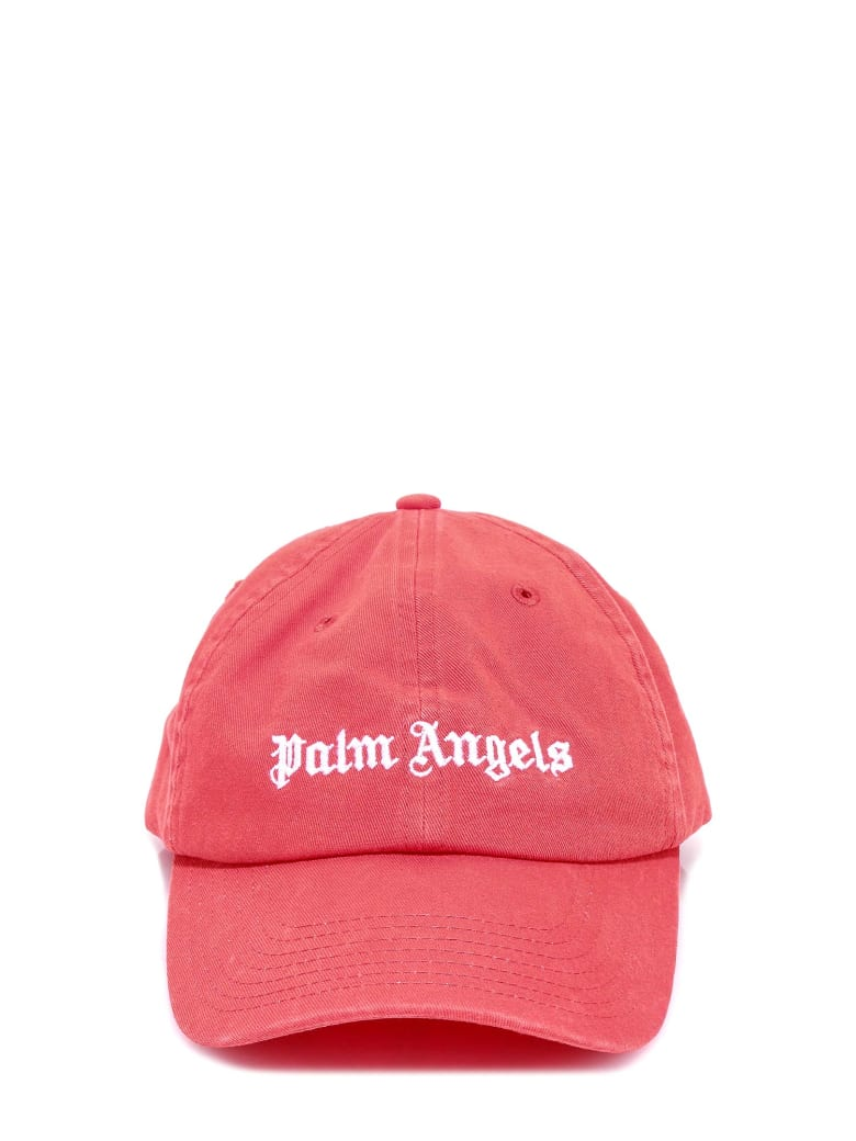 Palm Angels Classic Logo Cap - Red