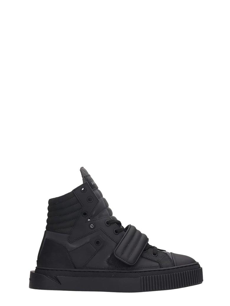 Gienchi Hypnos Sneakers In Black Rubber/plasic - black