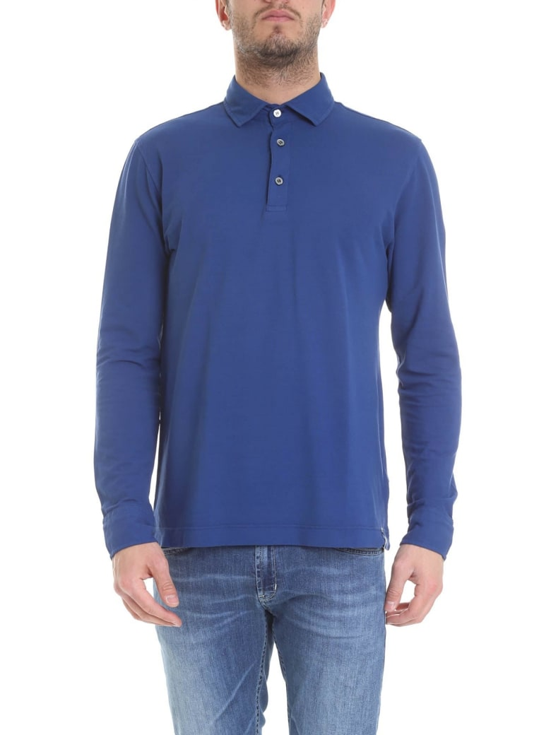 Drumohr Polo Cotton - Light blue
