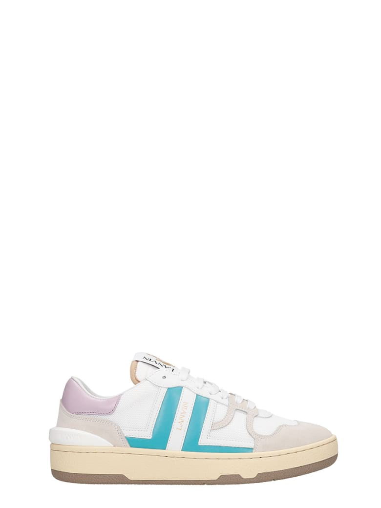 Lanvin Clay  Sneakers In White Polyester - white