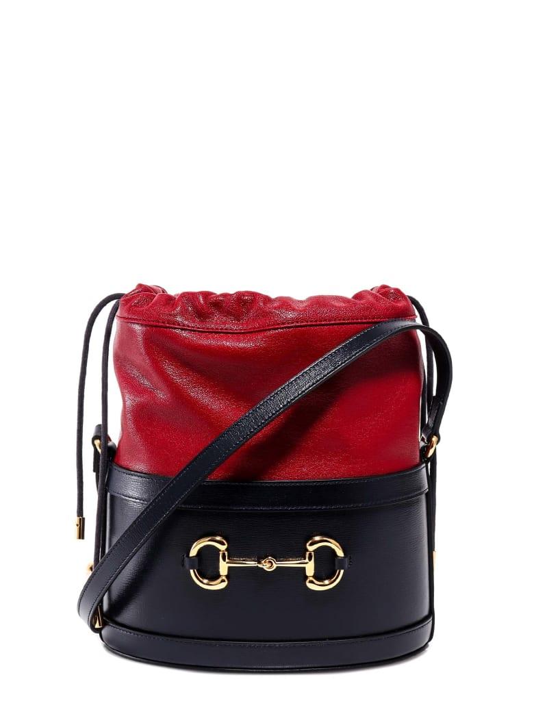 Gucci 1955 Horsebit Bucket Bag - Blue
