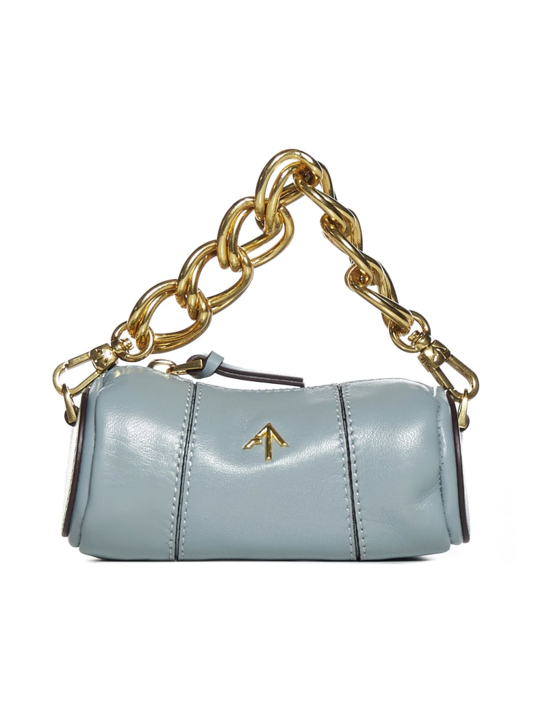 MANU Atelier Xx Micro Cylinder Leather Shoulder Bag - Stone blue