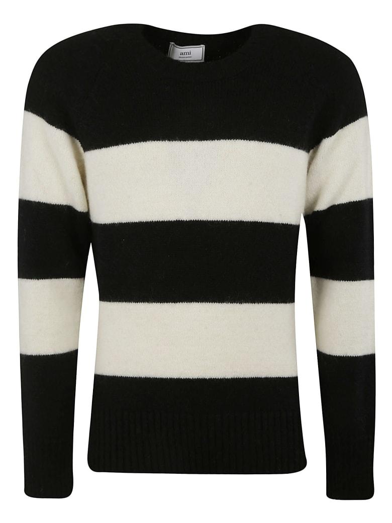 Ami Alexandre Mattiussi Stripe Knit Sweater - Black/Off-White