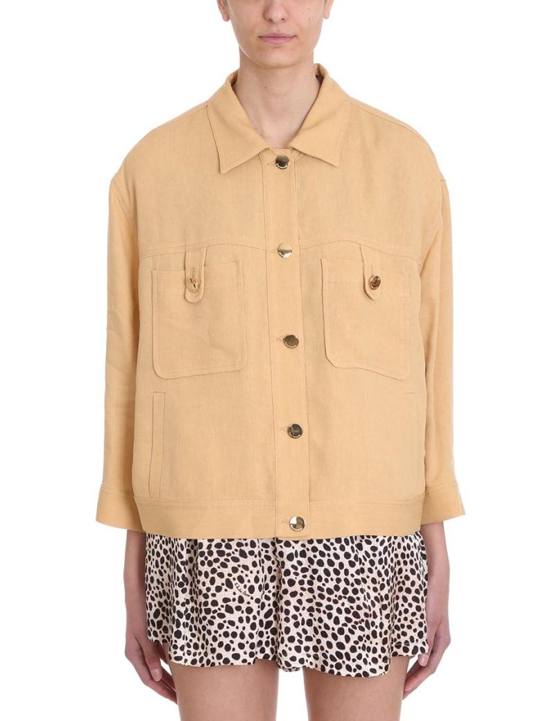 L'Autre Chose Ocher Cotton Jacket - beige