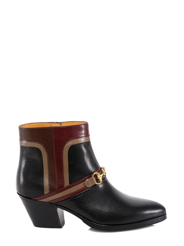 Gucci Interlocking G Horsebit Boots - Black