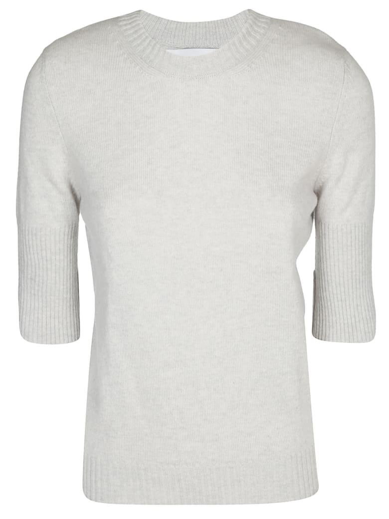 Barrie Knit Half Sleeves Sweater - Light grey
