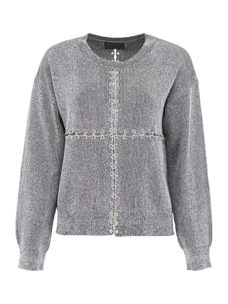 RTA Lurex Knit Pull - SILVER (Silver)