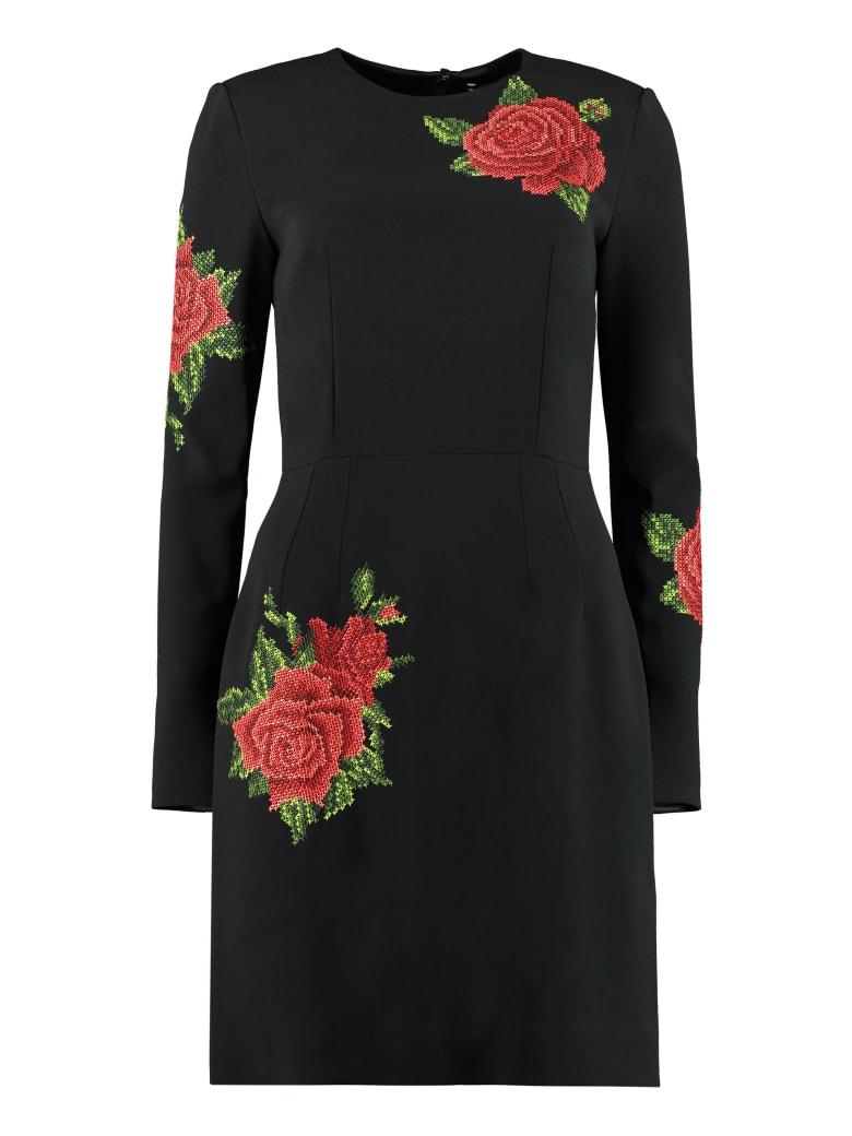 Dolce & Gabbana Embroidered Mini Dress - black