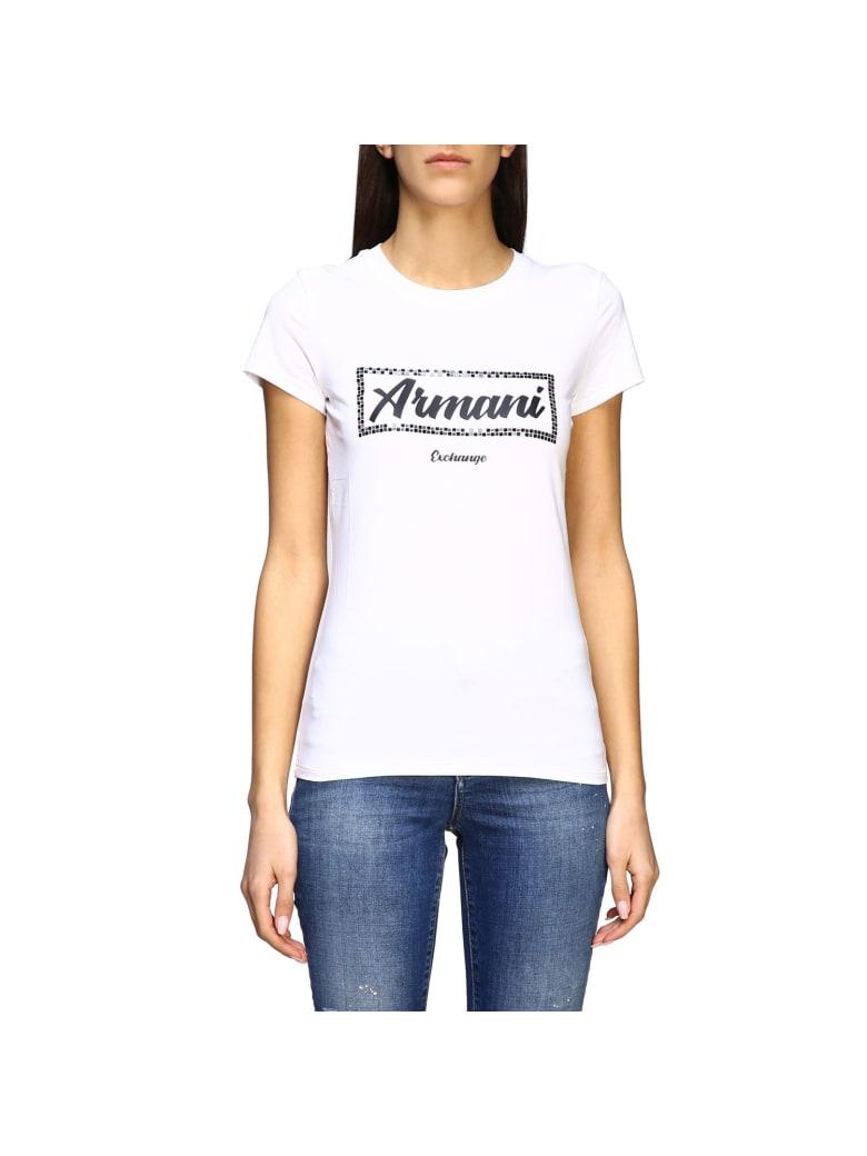 Armani Collezioni Armani Exchange T-shirt Armani Exchange Short-sleeved T-shirt With Logo - white