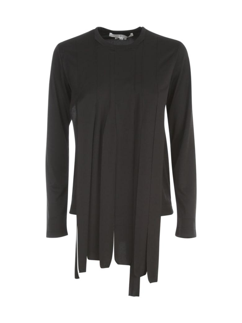 Comme des Garçons Comme des Garçons Polyester Jersey Crew Neck Sweater L/s - Black