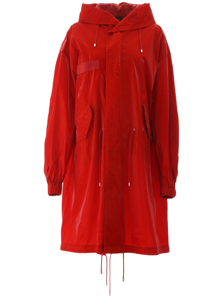 Mr & Mrs Italy Long Parka - FLAME (Red)