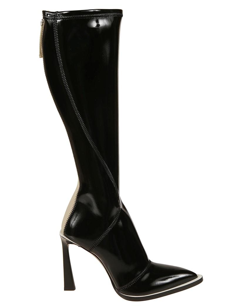 Fendi Rear Zipped Boots - black
