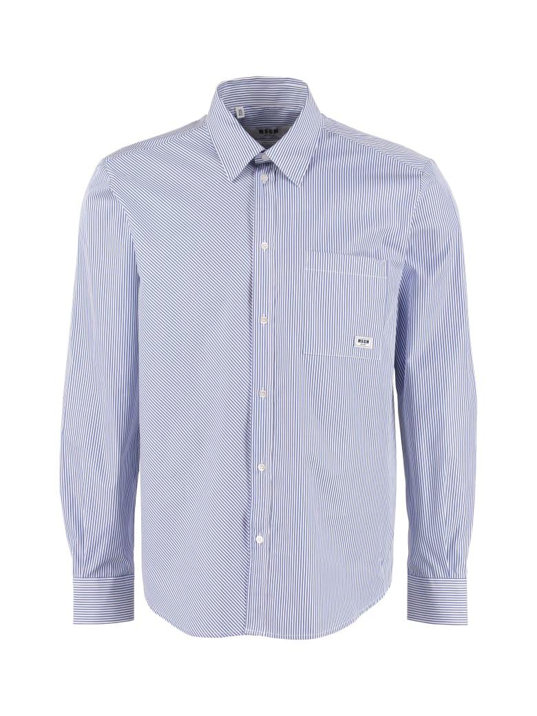 MSGM Striped Poplin Shirt - Multicolor