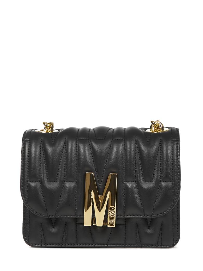 Moschino M Shoulder Bag - Black
