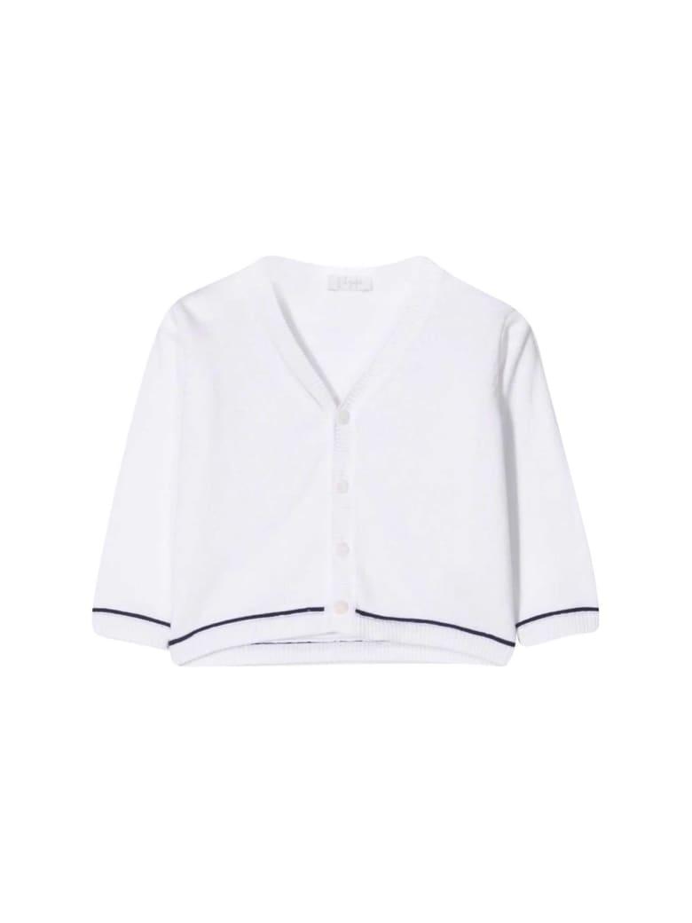 Il Gufo Soft Fit Cardigan - Bianco/blu