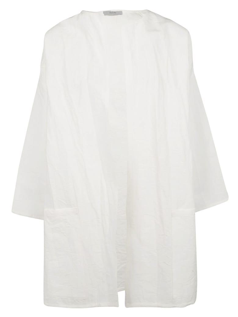 Dusan Open Front Cardi-coat - Ivory