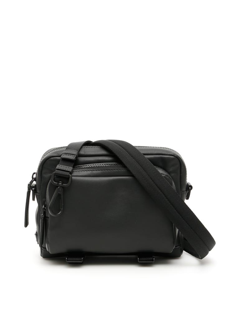 Prada Leather Messenger Bag - NERO (Black)
