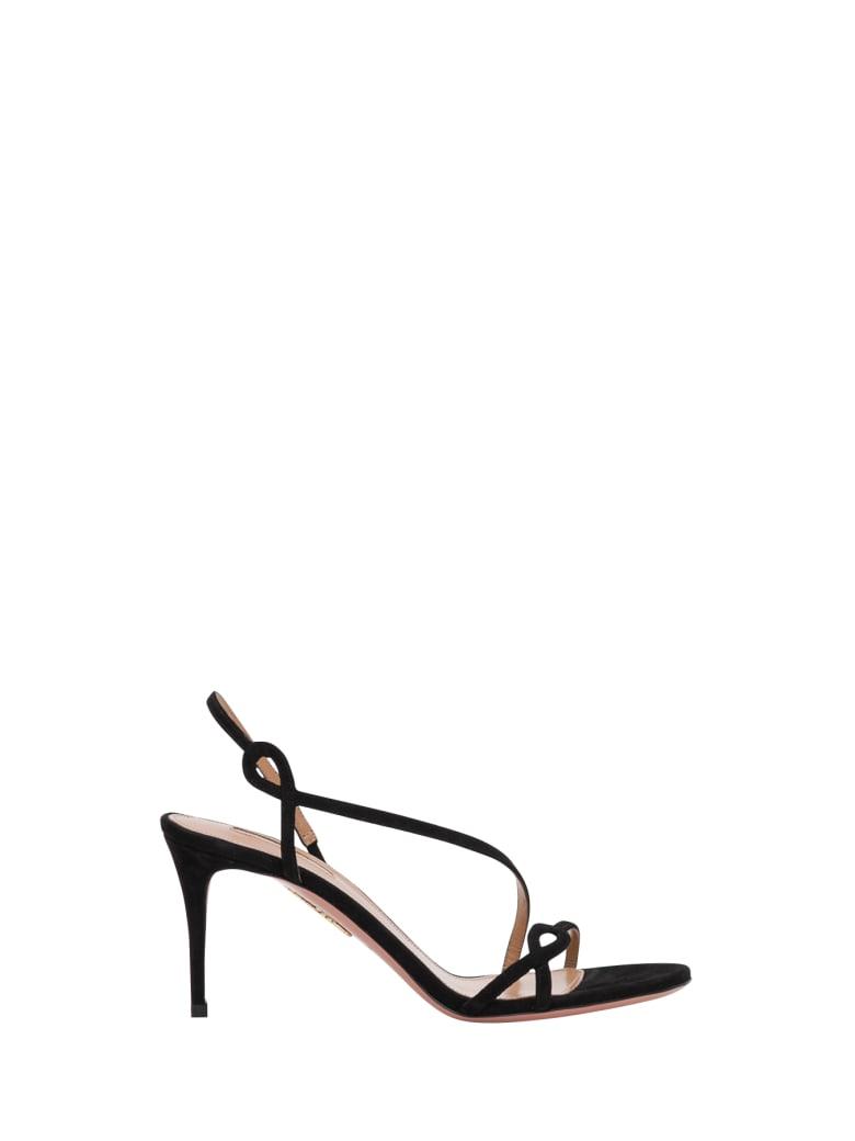 Aquazzura Serpentine 75 Sandals - Nero